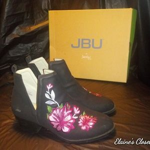 JBU by Jambu Parker Black Embroidery Ankle Boot
